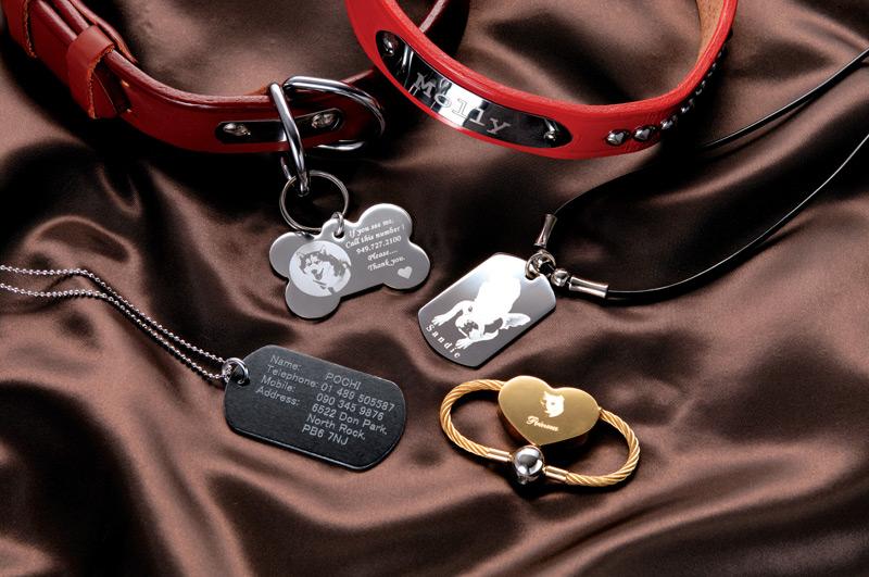 Алмазная гравировка медальонов для животных